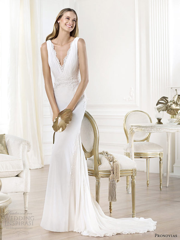 Pronovias 2014 Pre Collection Wedding Dresses Fashion Bridal Collection W