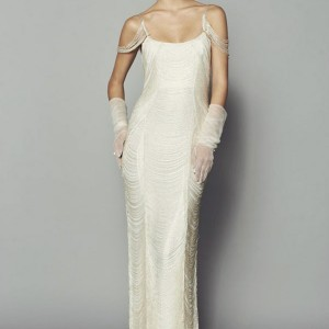 rafael cennamo bridal fall 2013 beaded fringe panelled gown