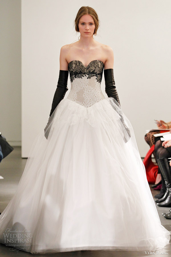 Black Lace Wedding Dresses Vera Wang