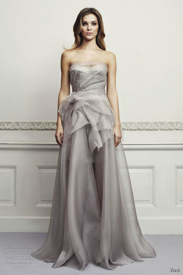 Zie wedding dresses 2013 wedding inspirasi for Gray dresses for a wedding