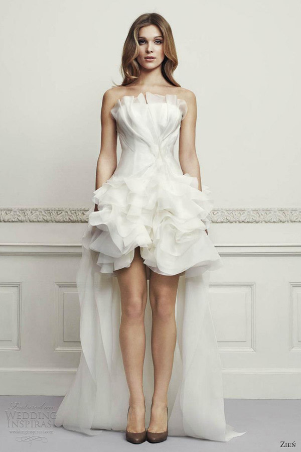 Zie wedding dresses 2013 wedding inspirasi page 2 for Tulle high low wedding dress