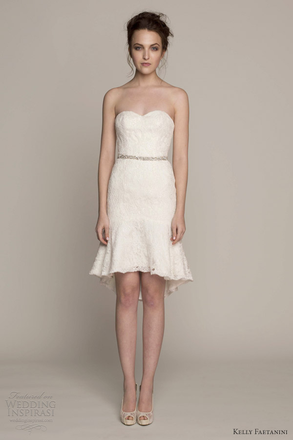 Short Sweetheart Wedding Dress