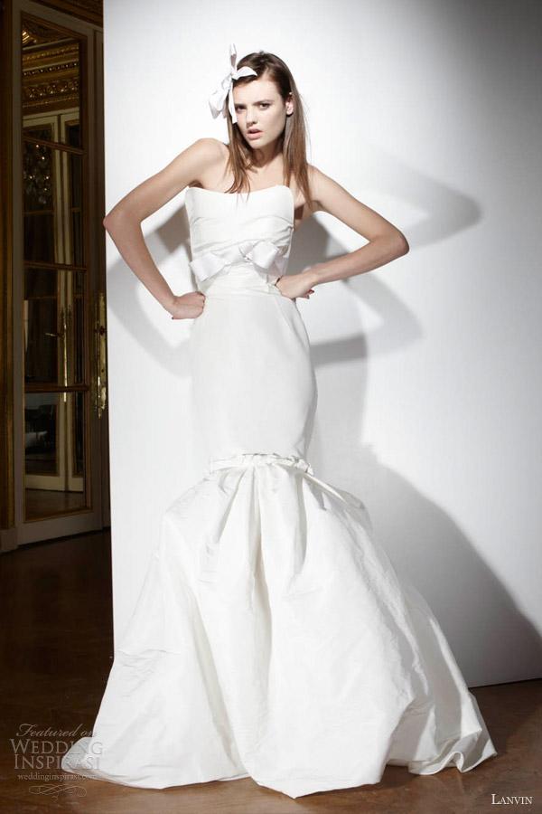 lanvin bridal 2013 wedding dress strapless mermaid