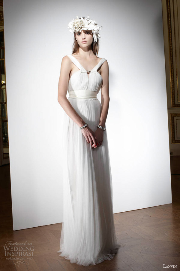 lanvin wedding dresses spring 2013 draped grecian bridal gown