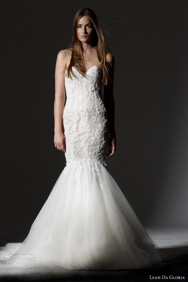 Leah Da Gloria 2013 Bridal Collection | Wedding Inspirasi Lace Mermaid Wedding Dress 2013