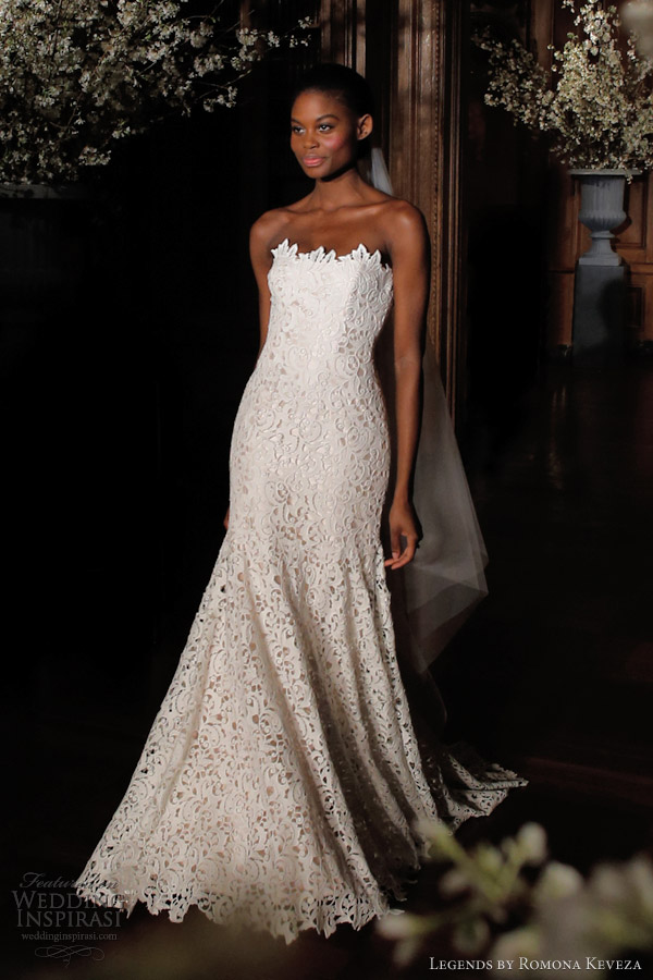 legends by romona keveza spring 2014 strapless lace wedding dress style l500