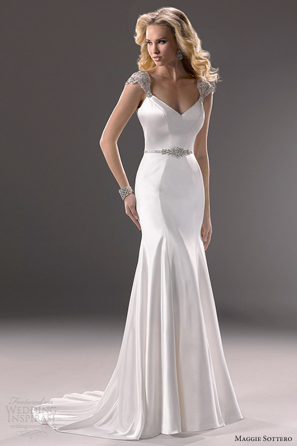 maggie sottero bridal fall 2013 ivy cap sleeve wedding dress
