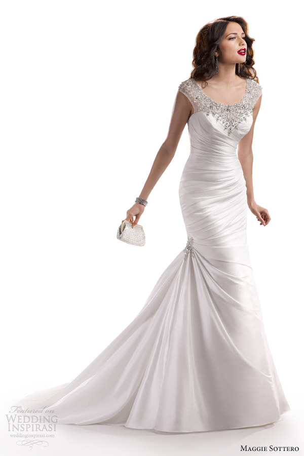 maggie sottero fall 2013 landyn wedding dress bateau neckline
