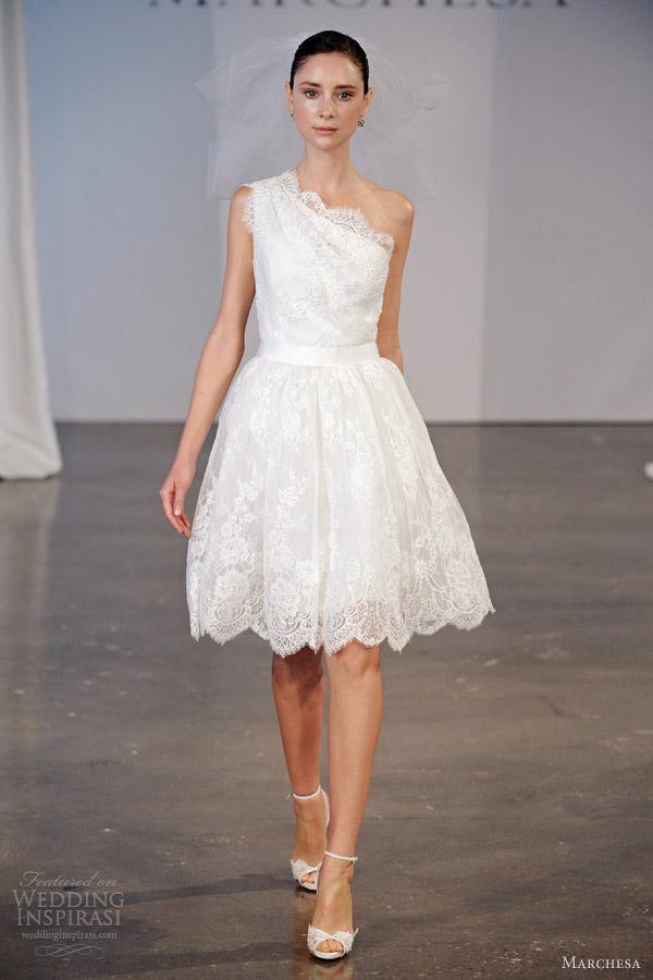 Marchesa bridal spring 2014 wedding dresses wedding for Short spring wedding dresses