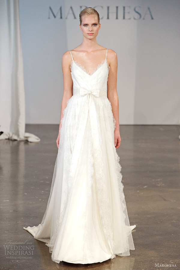 marchesa wedding gowns bridal spring 2014 lace dress straps