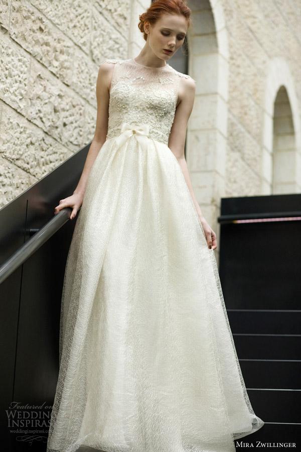 Wedding Dresses With Illusion Bodice : Mira zwillinger  wedding dresses inspirasi