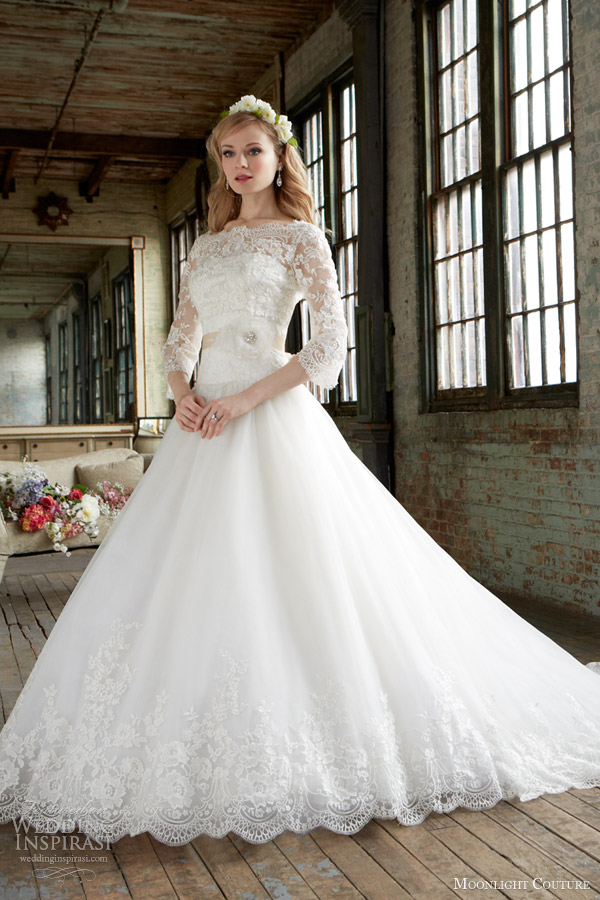 dresses fall 2013 bridal strapless ball gown long sleeve lace build up