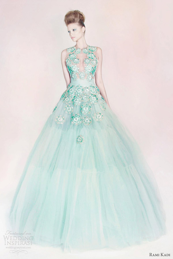 rami kadi couture hand embroidered tulle ball gown color