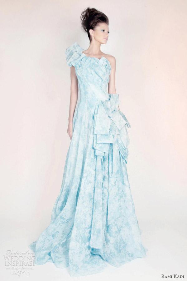 rami kadi les jardins suspendus pale blue silk organza draped gown