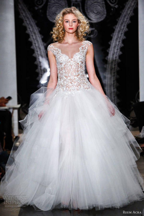 Reem acra bridal spring 2014 wedding dresses wedding for Reem acra lace wedding dress