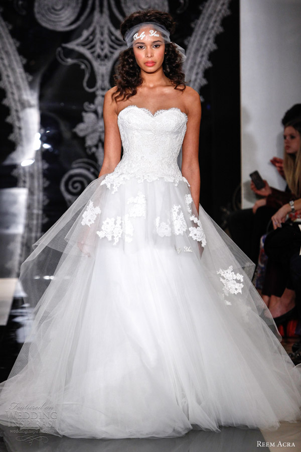 Reem Acra Bridal Spring 2014 Wedding Dresses | Wedding Inspirasi