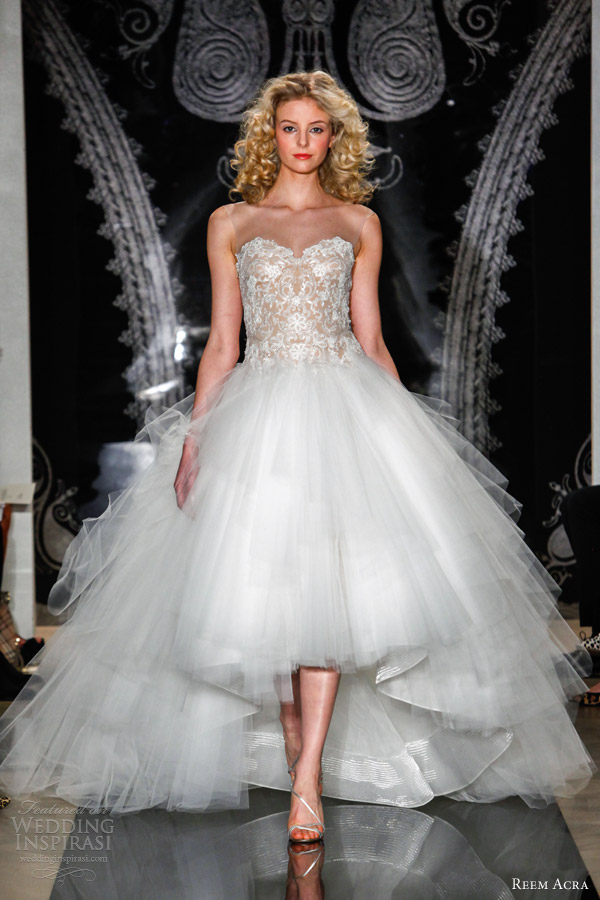 Reem acra bridal spring 2014 wedding dresses wedding for Full skirt wedding dress