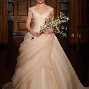 romona keveza collection spring 2014 victoriana blush silk organza ball gown