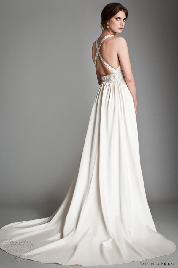 Temperley bridal gowns 2013 titania collection wedding for Cross back wedding dress