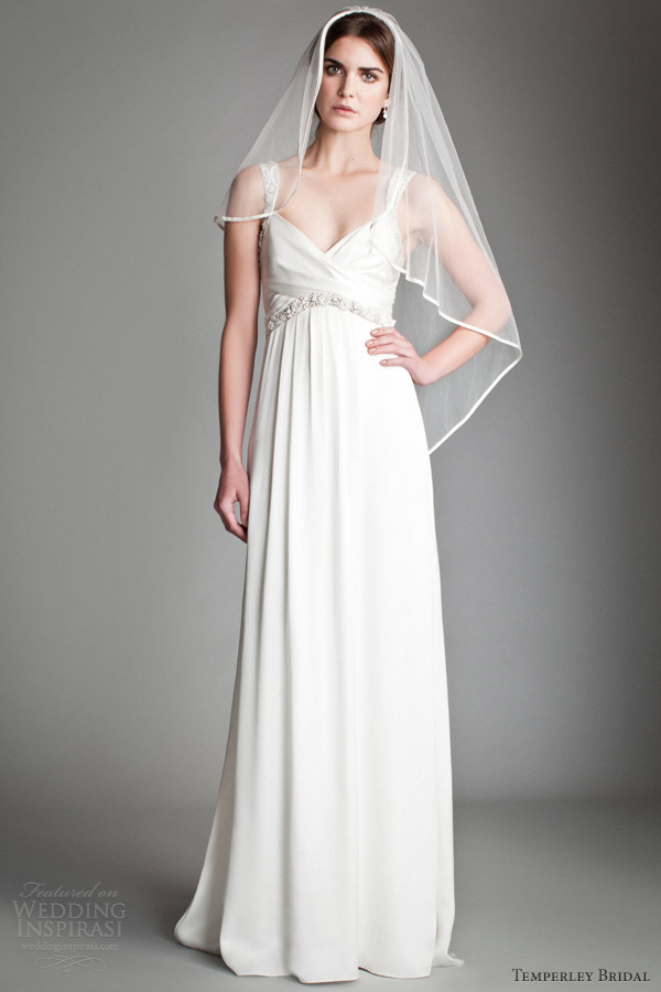 temperley bridal 2014 wedding dresses fern drape satin dress straps