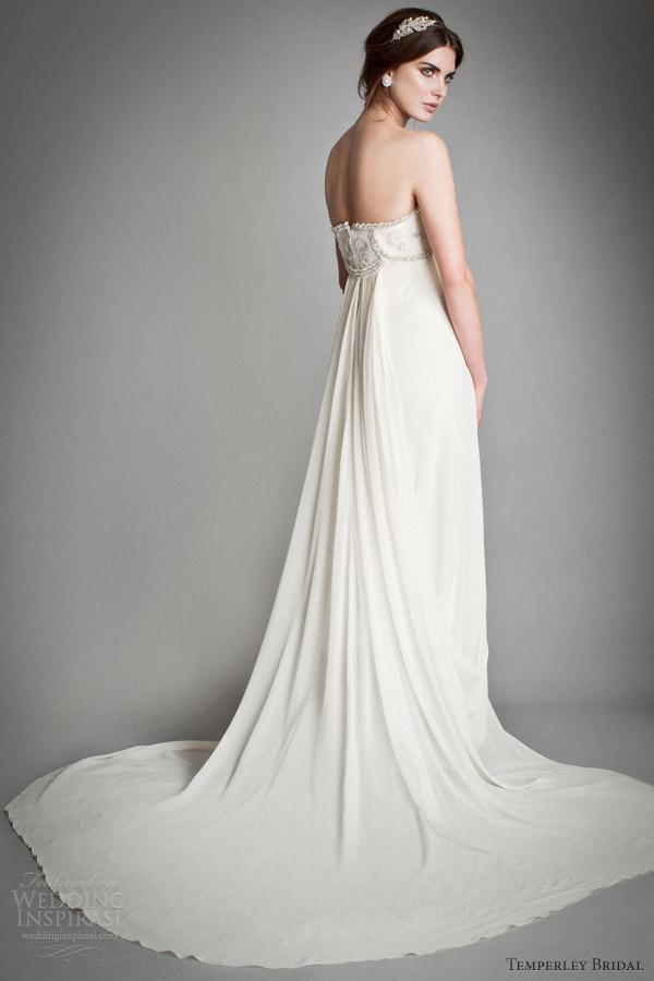 temperley wedding dresses 2014 bridal titania crystal mirage empire waist strapless gown back train
