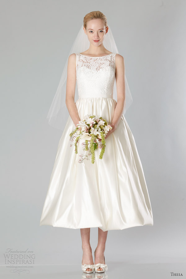 Tea Length Wedding Dresses For A Fall Wedding theia bridal fall
