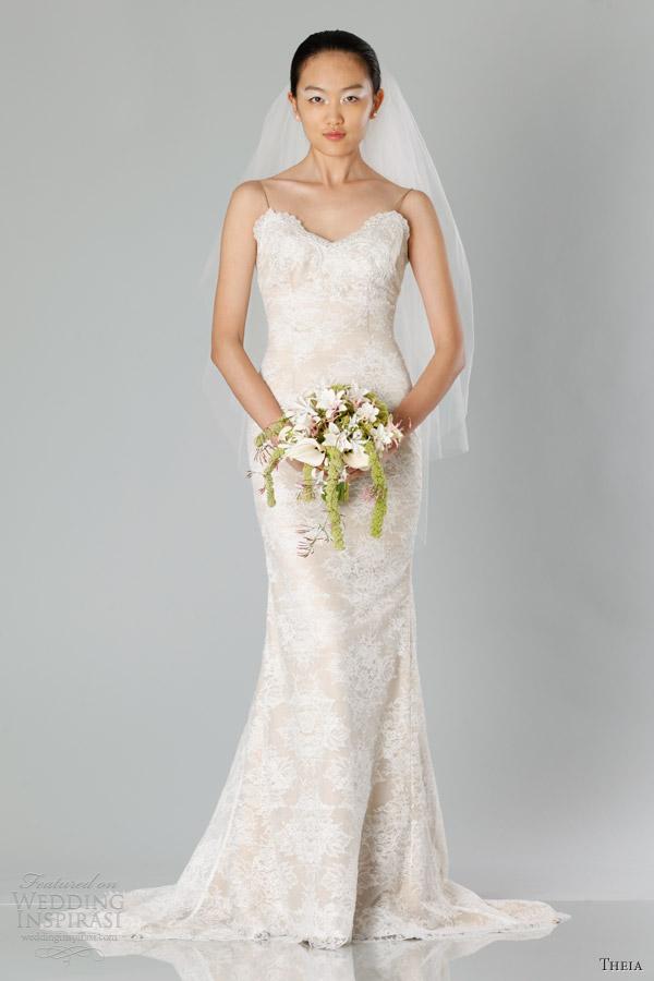 Nude Wedding Dresses 15 Luxury theia bridal fall sleeveless