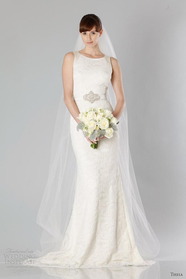 theia bridal fall 2013 sleeveless wedding dress straps