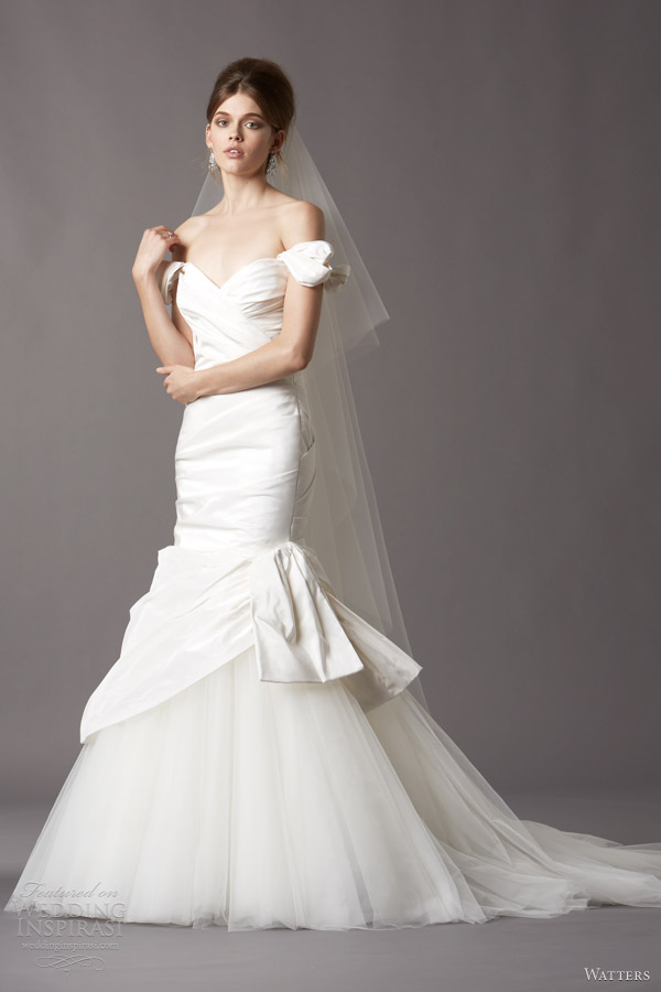 watters wedding dresses 2014 bridal 4036b trudie silk taffeta gown
