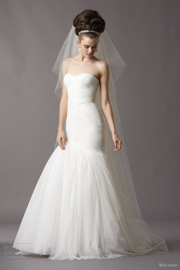 watters wedding dresses spring 2014 bridal talulah strapless gown 4056b