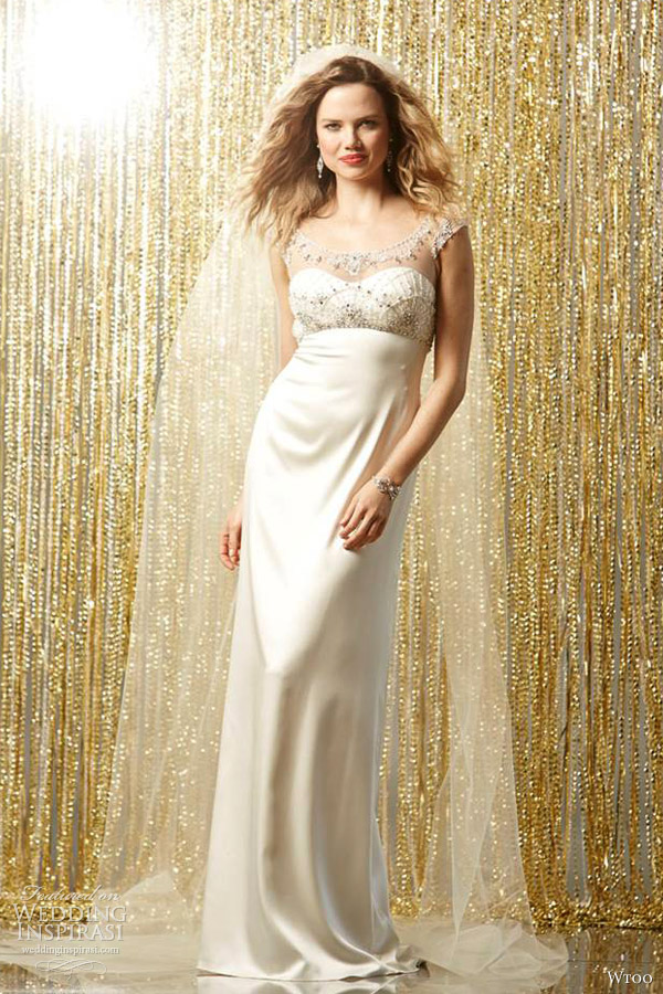wtoo bridal fall 2013 astea illusion cap sleeve wedding dress