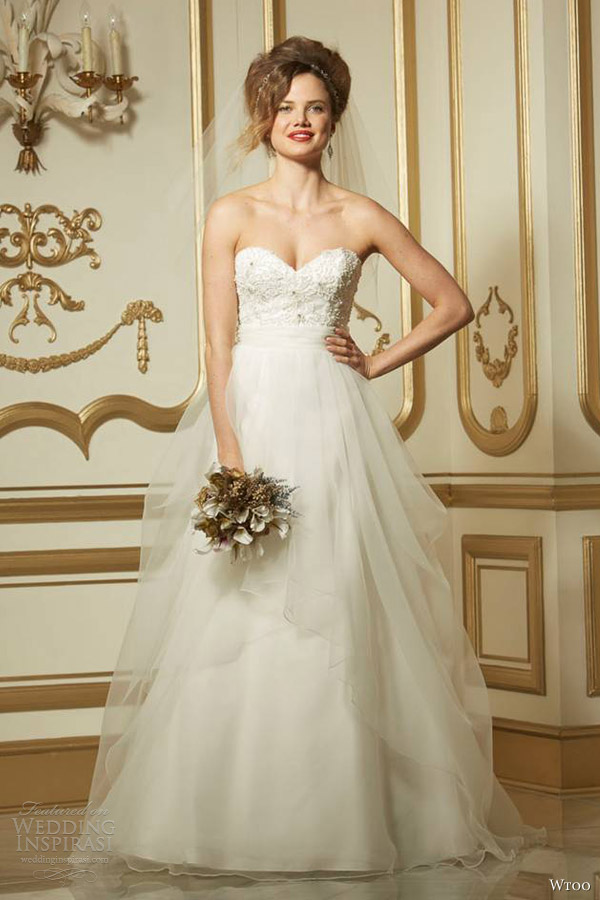 wtoo brides fall 2013 2014 calypso strapless wedding gown sweetheart