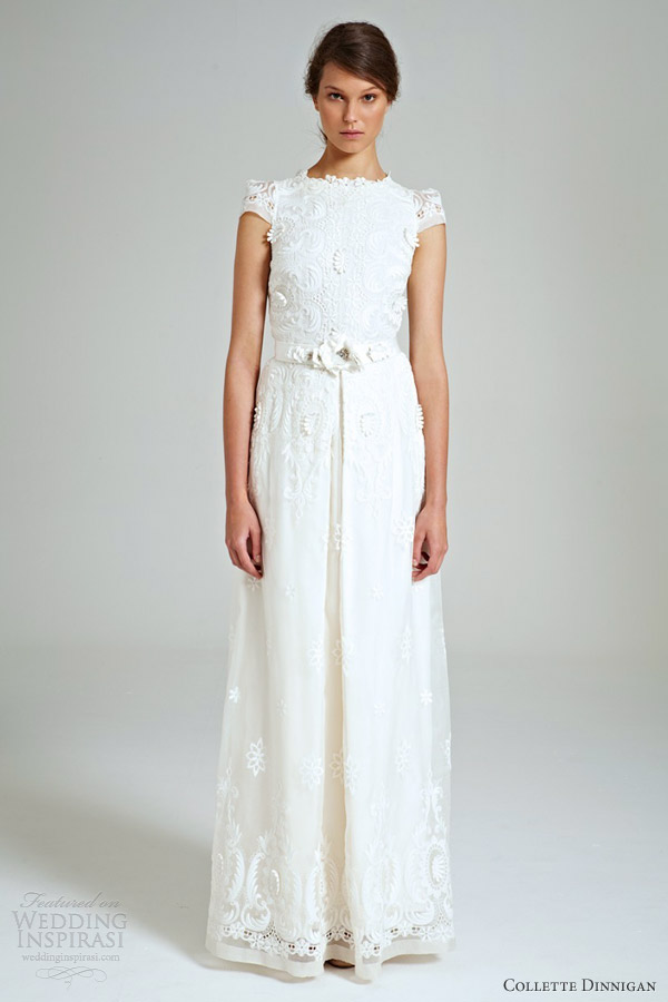 collette dinnigan 2014 bridal rococo embroidered organza wedding dress
