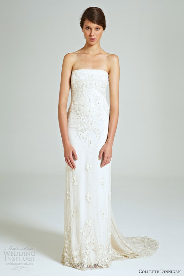 collette dinnigan bridal 2014 sequinned beaded tulle magical wonderland strapless wedding dress