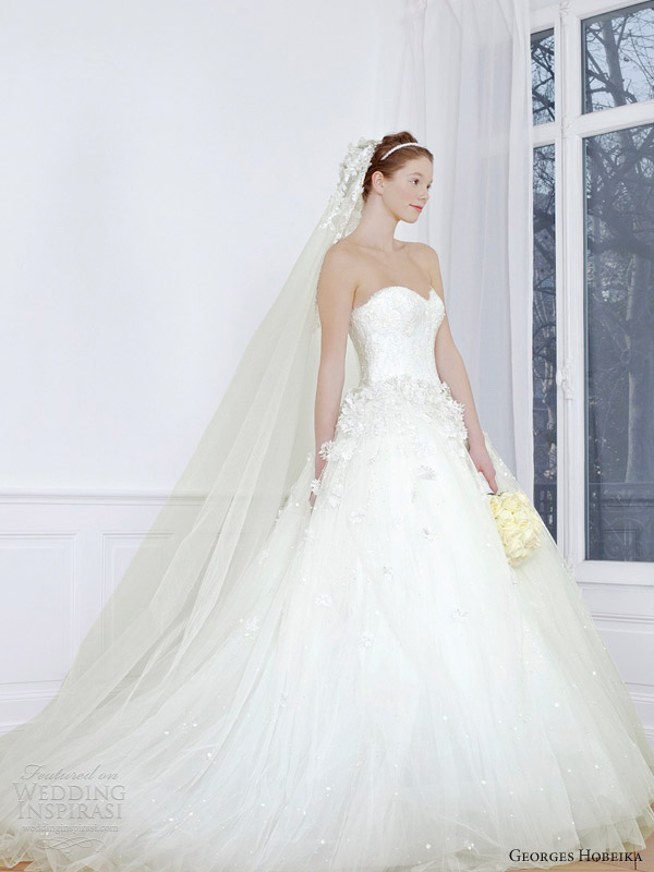 georges hobeika 2013 bridal strapless wedding dress ball gown