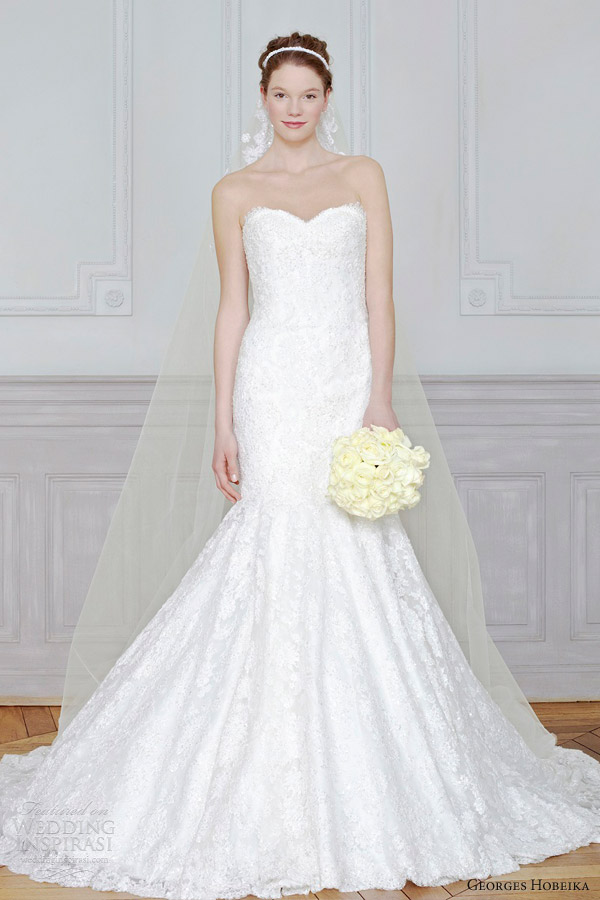 georges hobeika bridal 2013 wedding dress mermaid strapless sweetheart
