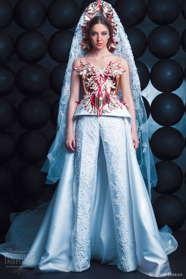 nicolas jebran couture spring 2013 wedding dress