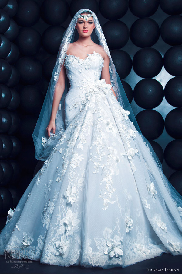 nicolas jebran spring summer 2013 couture wedding dress