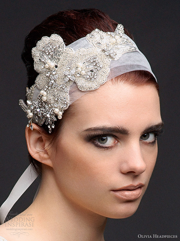 olivia bridal accessories 2013 kate headband cum belt crystal bead pearl applique
