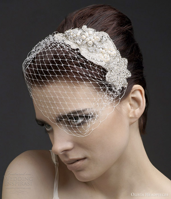 olivia headpieces 2013 alonza floral bridal hair accessory birdcage veil