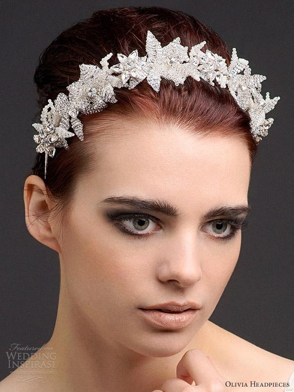 olivia headpieces 2013 antoinette blossom crystal cluster headband