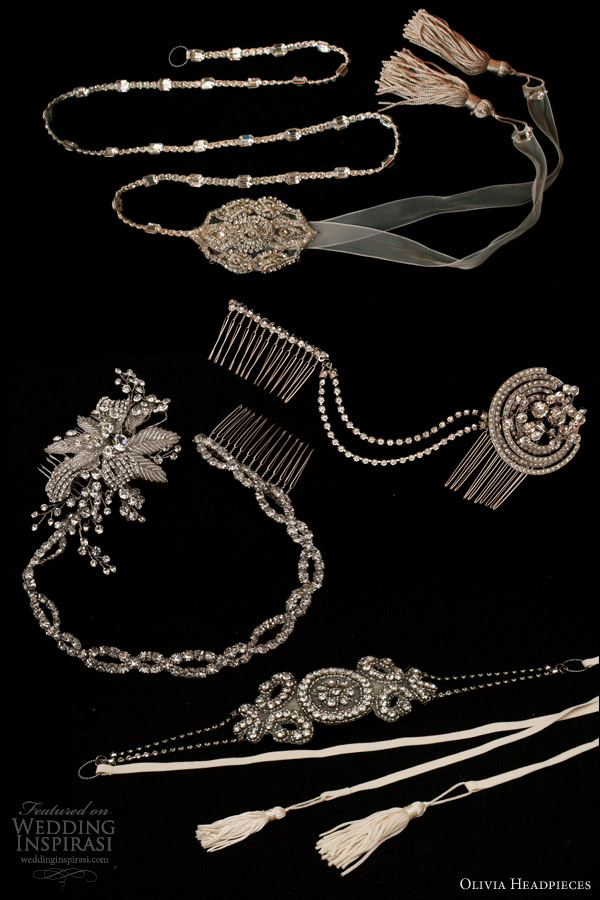 olivia headpieces 2013 bridal accessories bekett claire gabrielle colette
