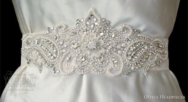 olivia headpieces 2013 bridal accessory sierra belt crystal pearl