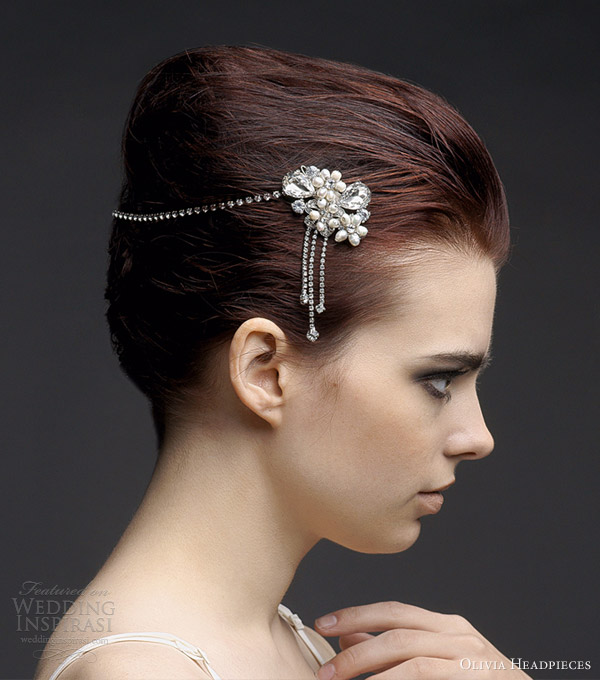 olivia headpieces hair accessories 2013 agatha bridal halo vintage style