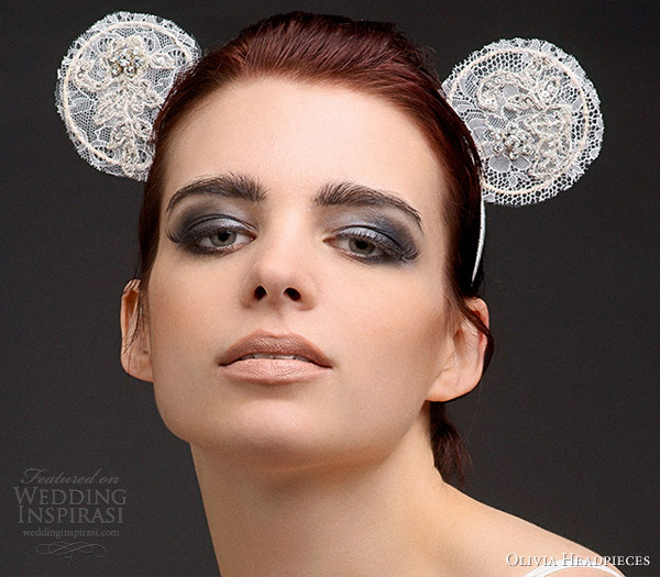 olivia headpieces hair accessories 2013 anette lace panda ears headband mickey mouse