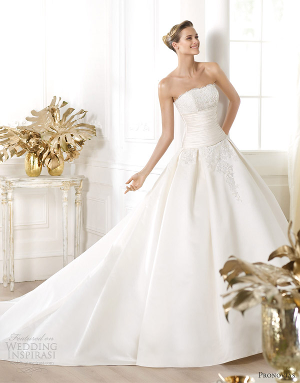pronovias wedding dresses 2014 costura laurain strapless ball gown