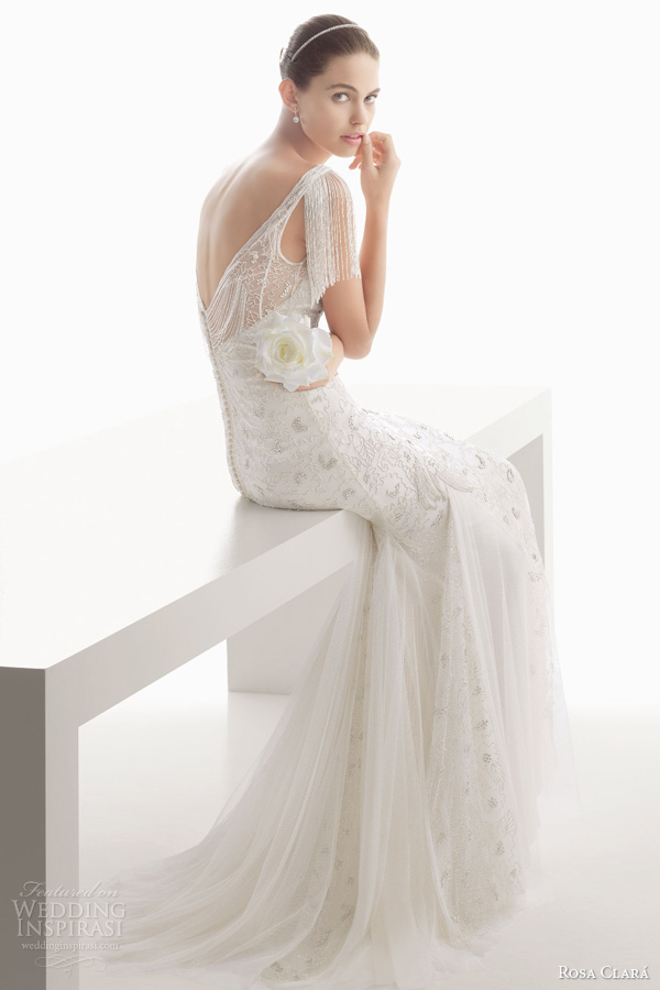 Rosa clara 2014 wedding dresses wedding inspirasi for Flutter sleeve wedding dress