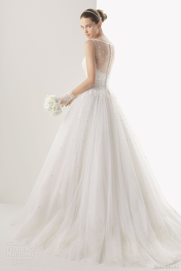 rosa clara 2014 bridal cometa sleeveless ball gown wedding dress back
