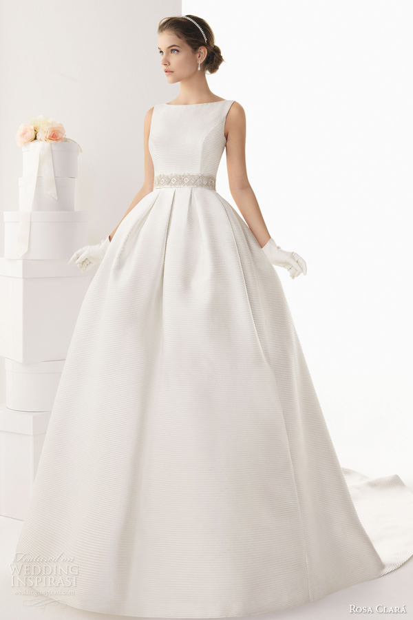 rosa clara bridal 2014 cabriolet sleeveless ball gown bateau neck wedding dress