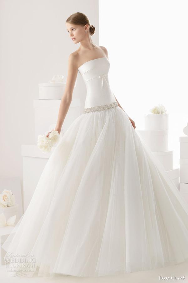 rosa clara bridal 2014 carpa strapless wedding dress